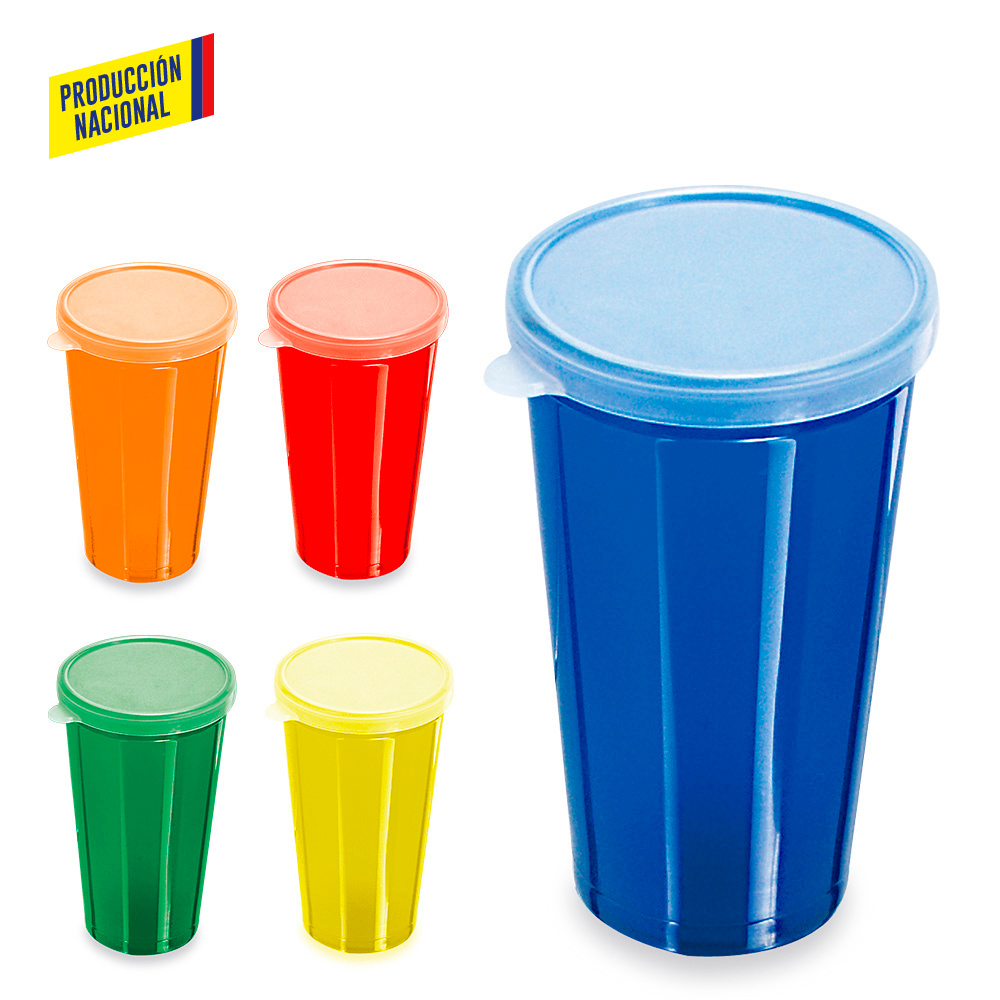 Vaso Tapa Plástico 14 oz- Producción Nacional