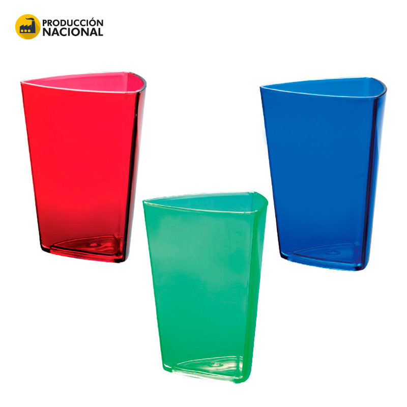 Vaso Triangular 250ml- Producción Nacional