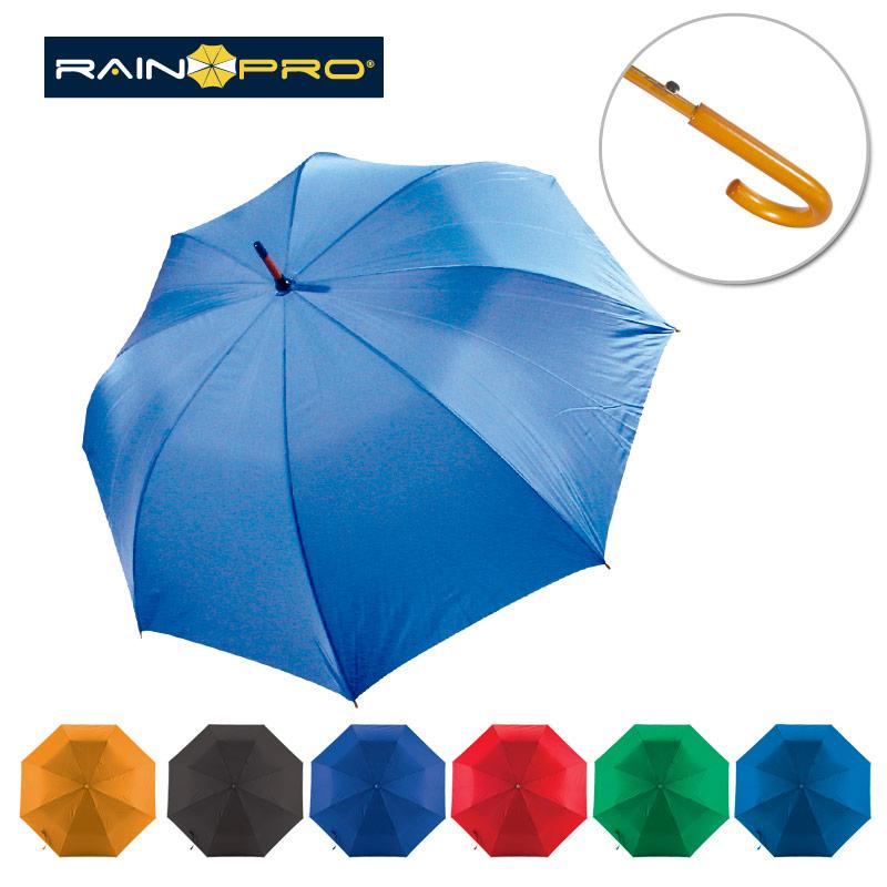 Paraguas de Madera Curvo Automático - OFERTA