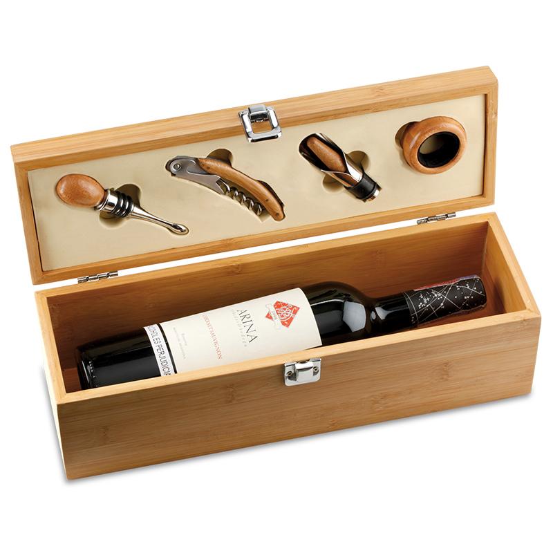 Set de vino en Bambú - 5 piezas