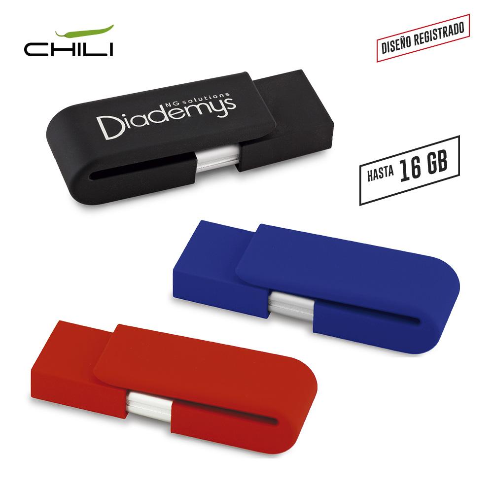 Memoria USB Clip Drive - Acabado Caucho PRECIO NETO