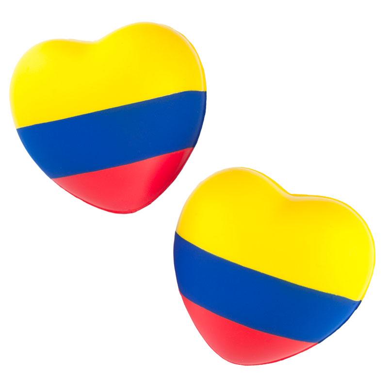 Corazón Antiestrés Tricolor