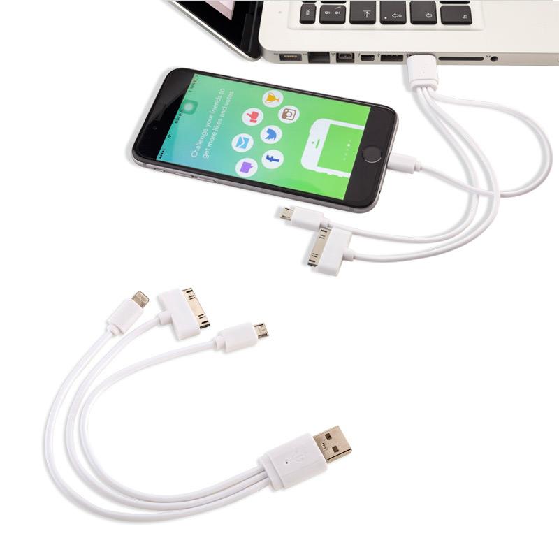 Cable USB Multicargador con tres Adaptadores-OFERTA