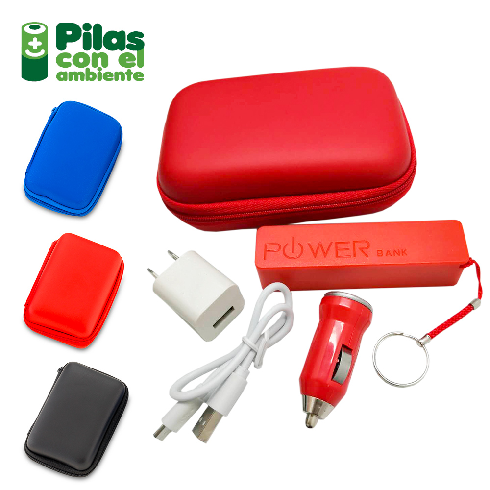 Set travel con pila Compact 2200 mah