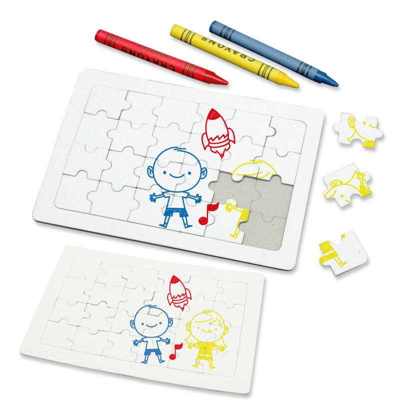 Set de Crayolas con Rompecabezas
