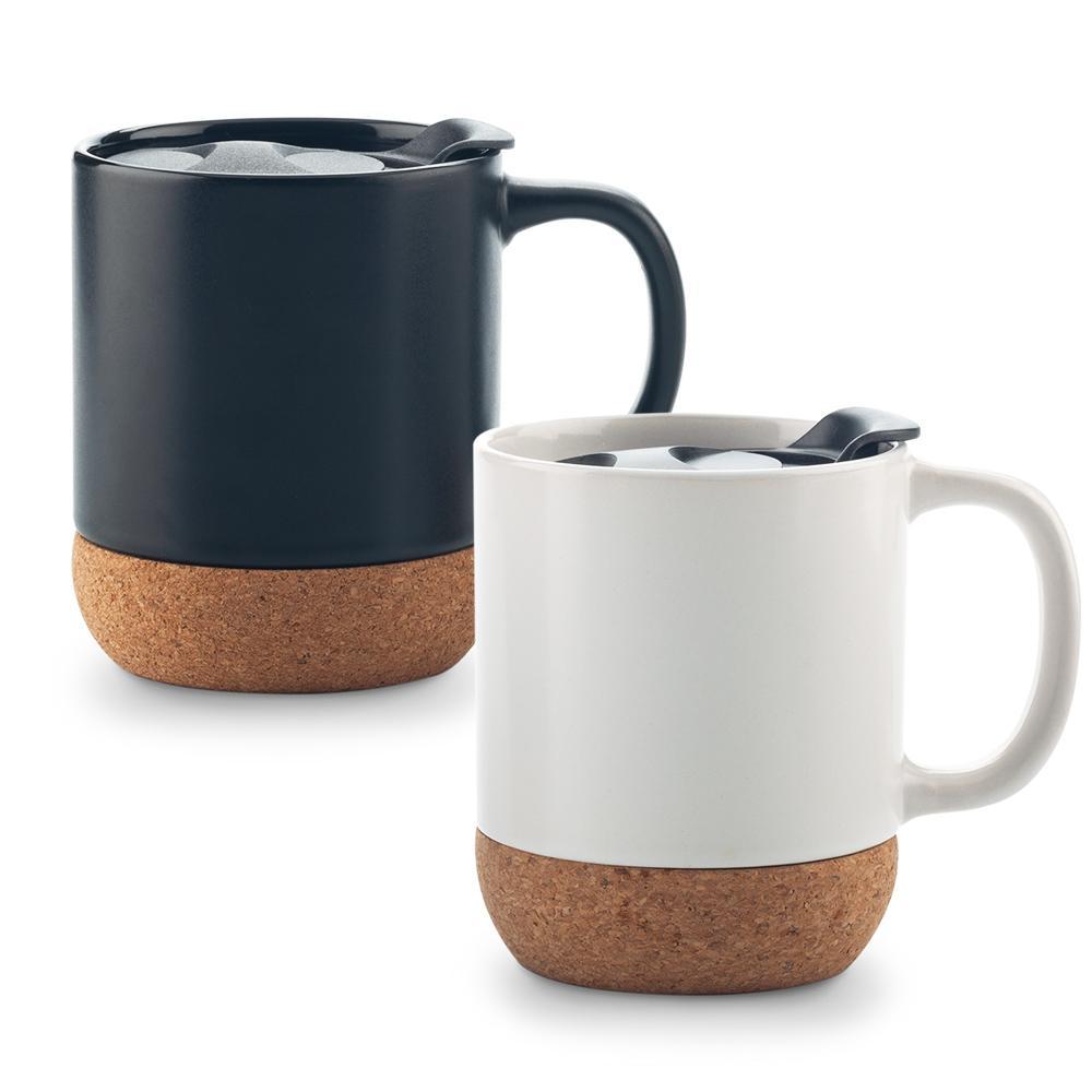 Mug Ceramica Con Corcho 11 oz