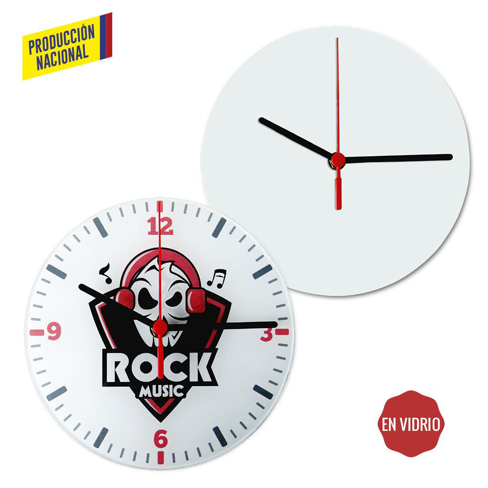 Reloj de Pared Glass
