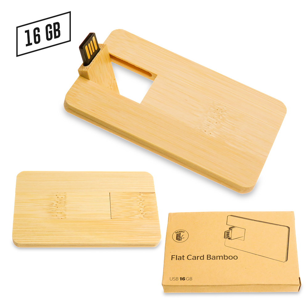 Memoria USB Credit Card Zilda Bamboo NUEVO PRECIO NETO