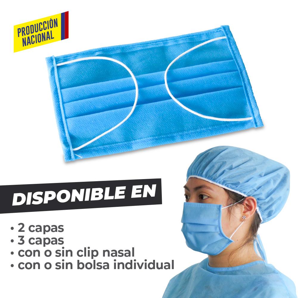 Tapabocas Desechable 3 Pliegues Adulto - Producción Nacional NUEVO PRECIO NETO