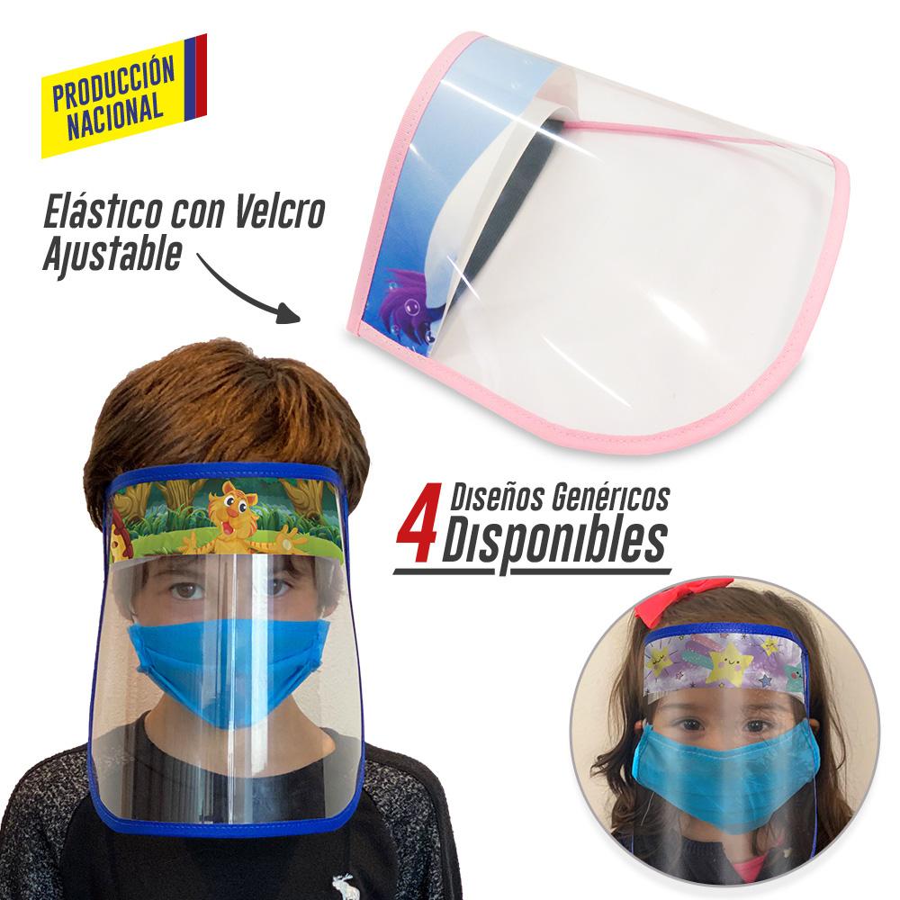 Careta Facial Plástica Big Logo Infantil -Producción Nacional NUEVO PRECIO NETO