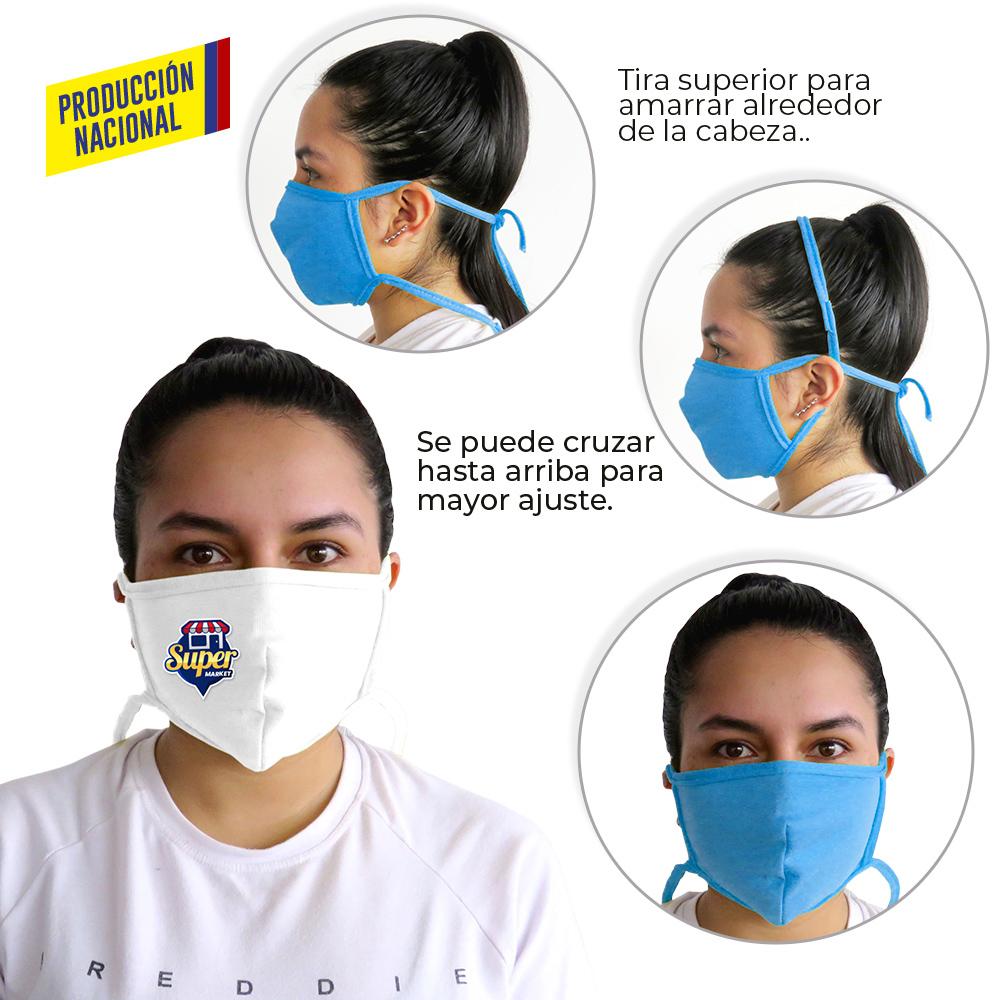Tapabocas en Tela Antifluido Big Logo - Producción Nacional NUEVO PRECIO NETO