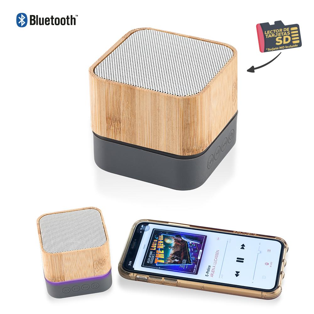 Speaker Bluetooth Bamboo Lights NUEVO