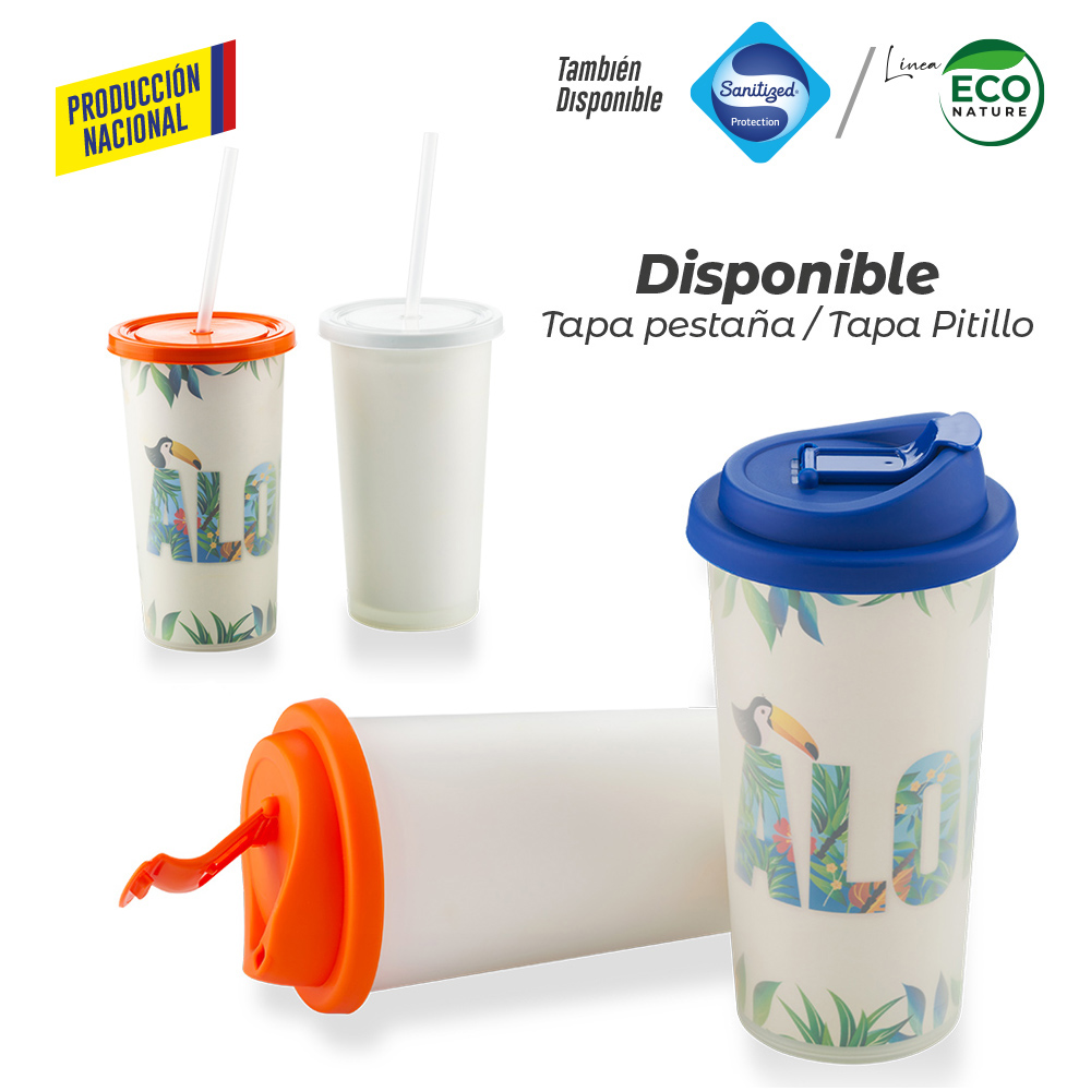 Vaso Doble Pared de Seguridad 450ml -Prod Nacional NUEVO