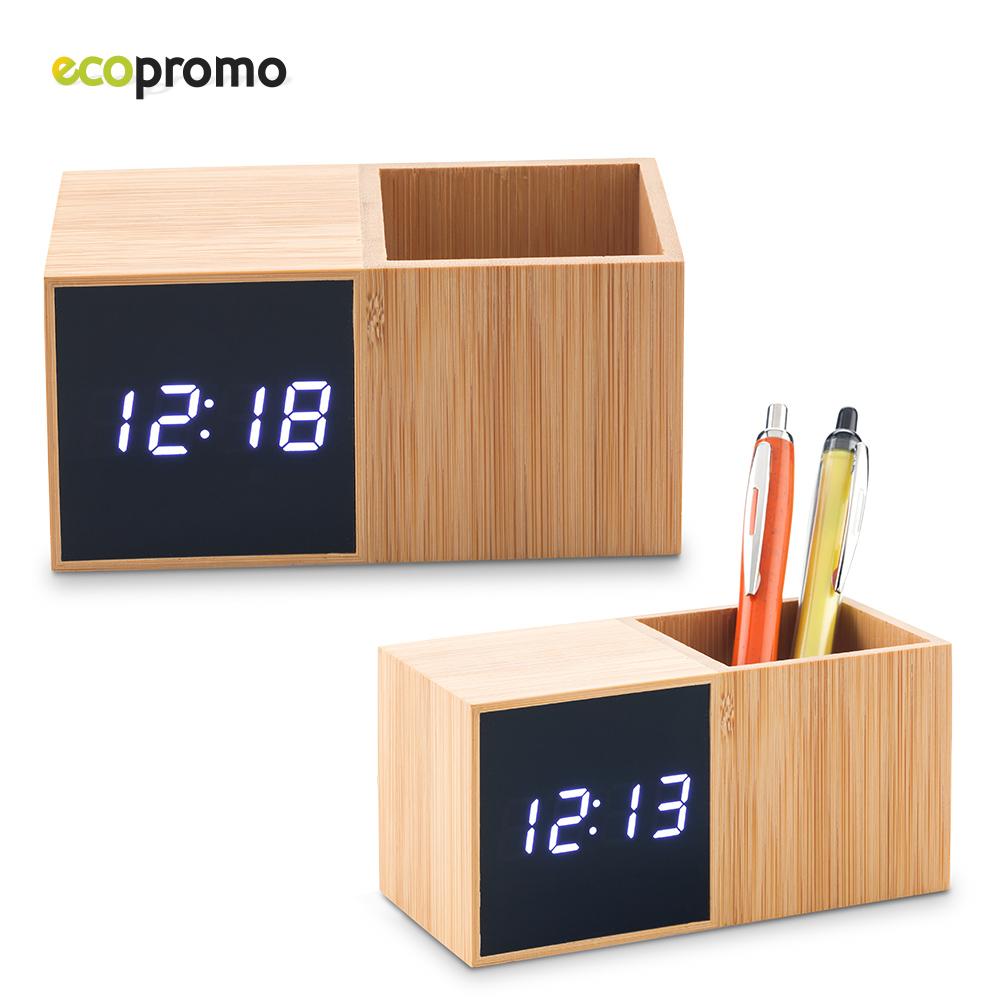 Reloj con Portabolígrafo Bamboo NUEVO