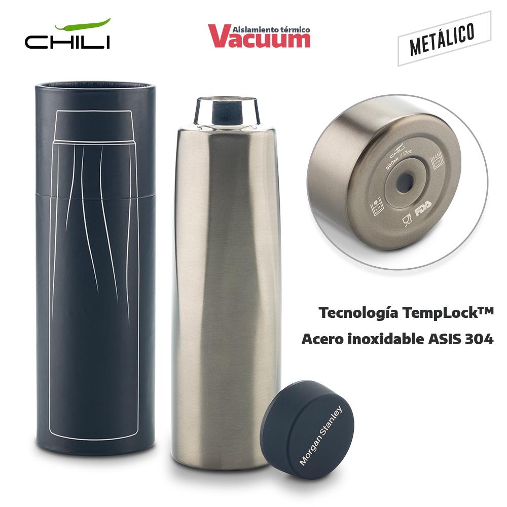 Termo Metalico Calypso Chili 500ml NUEVO
