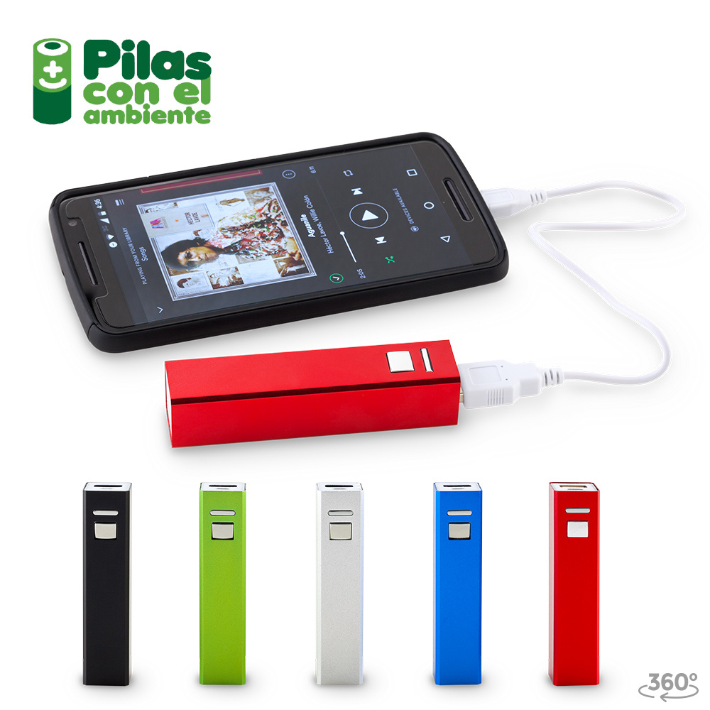 Pila Recargable Power Bank Con Boton 2200mAh