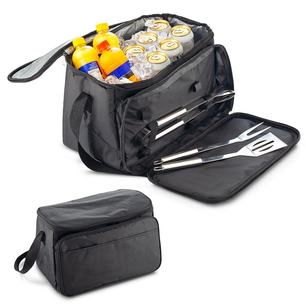 Nevera Lonchera con Set BBQ