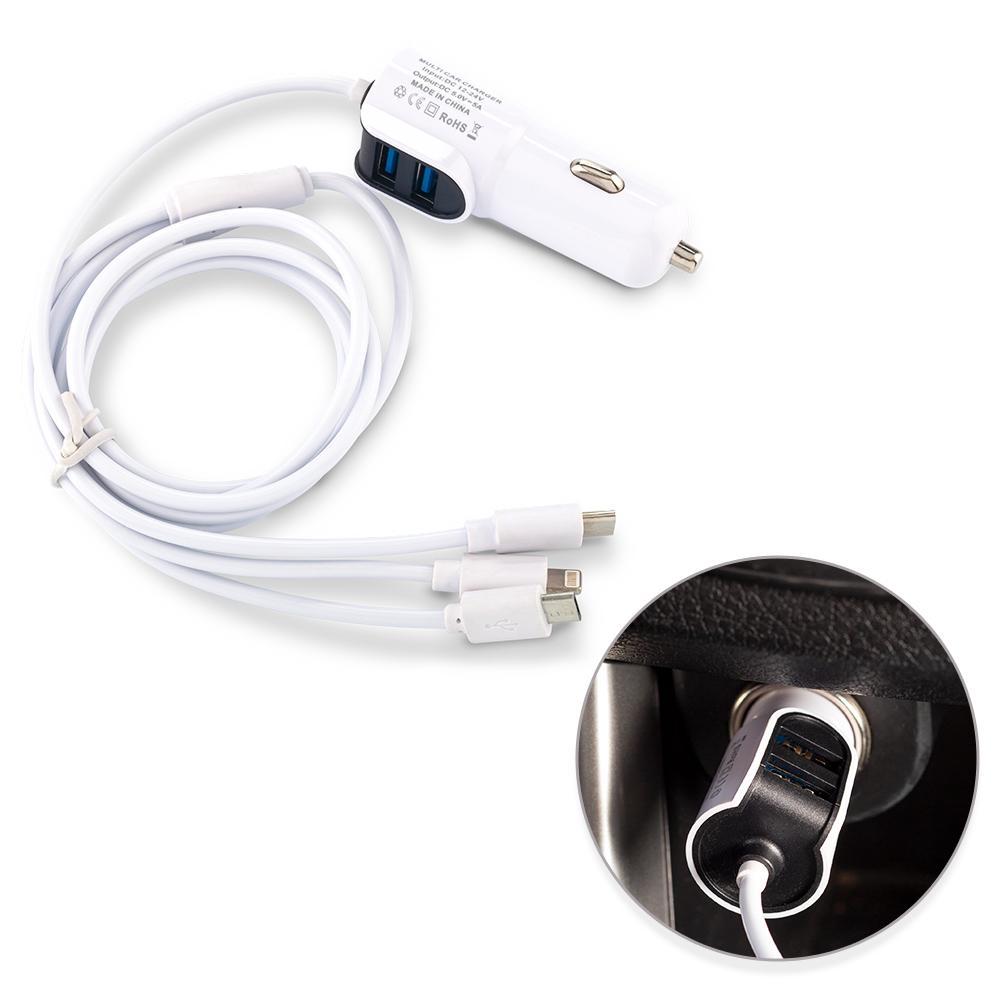 Cargador para Carro con Cables