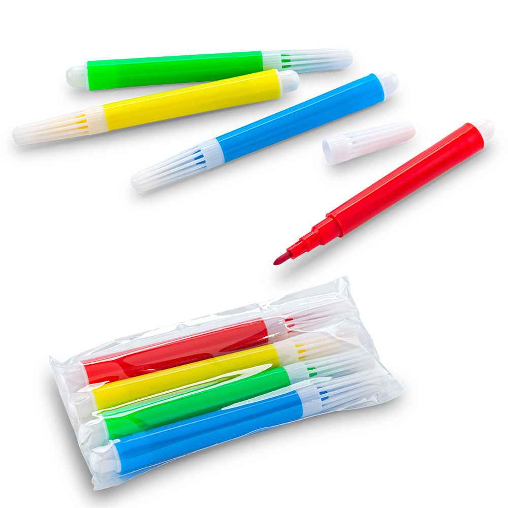 Set de 4 mini Marcadores Tinta Lavable NUEVO