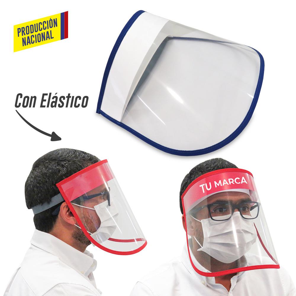 Careta Facial Plástica Big Logo Adulto - Producción Nacional NUEVO PRECIO NETO