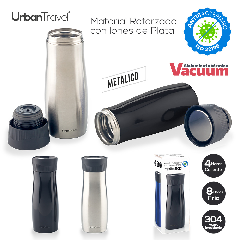 Botilito Metalico Urban Travel Premier 500ml NUEVO