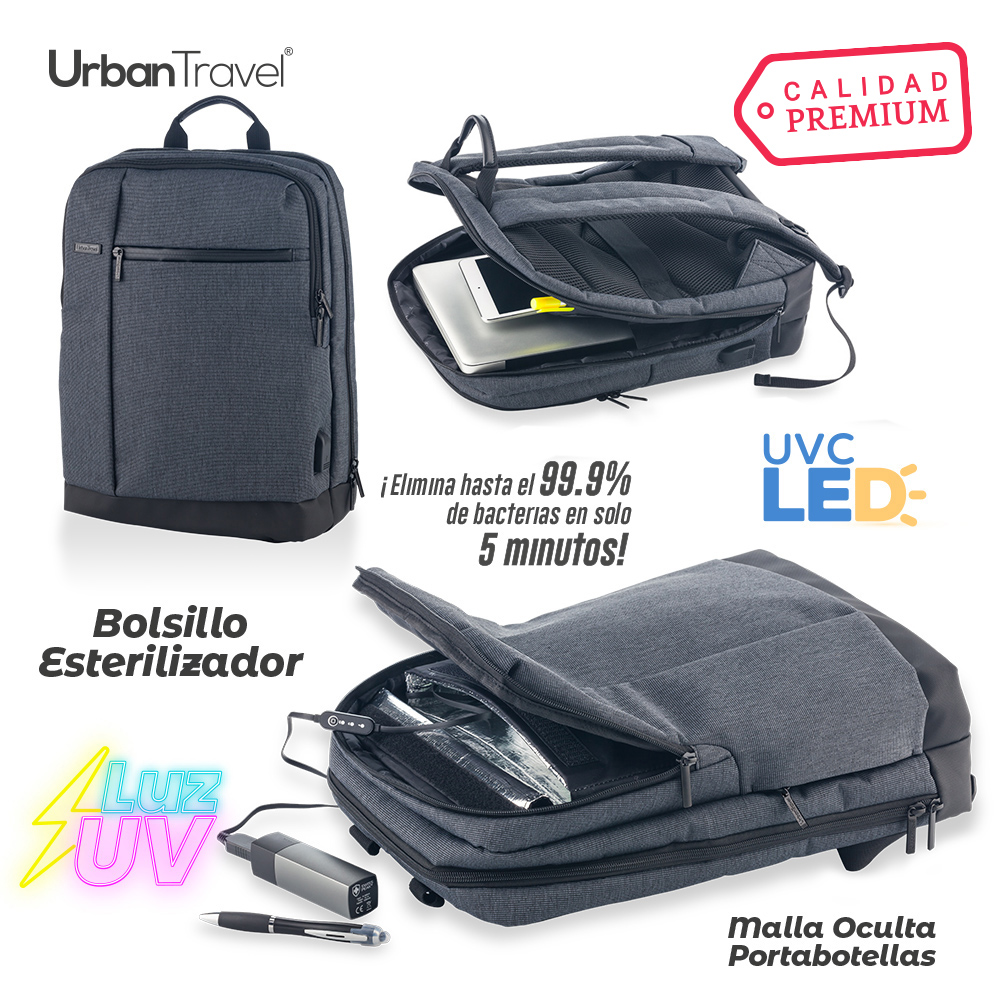 Morral Backpack Esterilizador Urban Travel