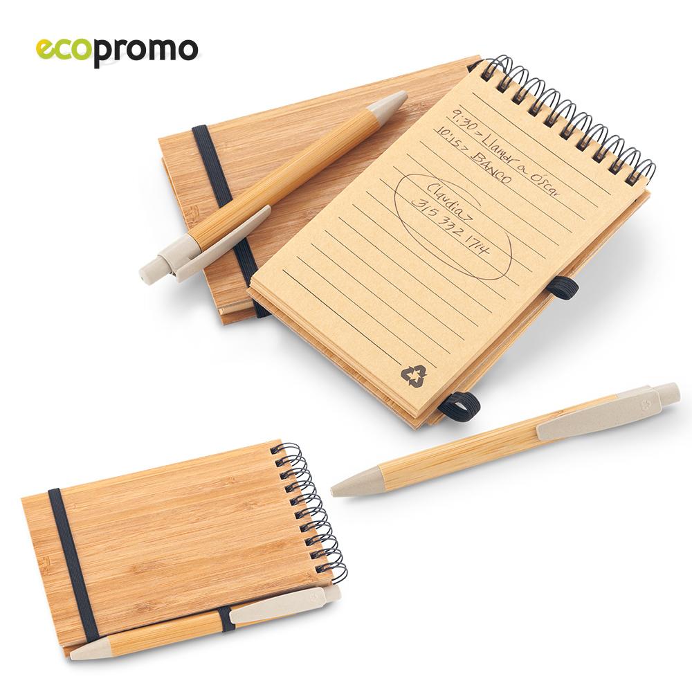 Libreta con Bolígrafo Bamboo NUEVO